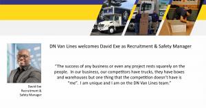 David Exe Joins DN Van Lines
